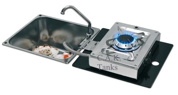 1 burner folding hob inset sq sink. Black Bedroom Furniture Sets. Home Design Ideas