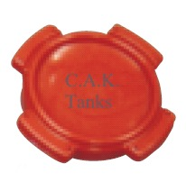 "5"" RED CAP FOR TANKS (FRC & RRC)"