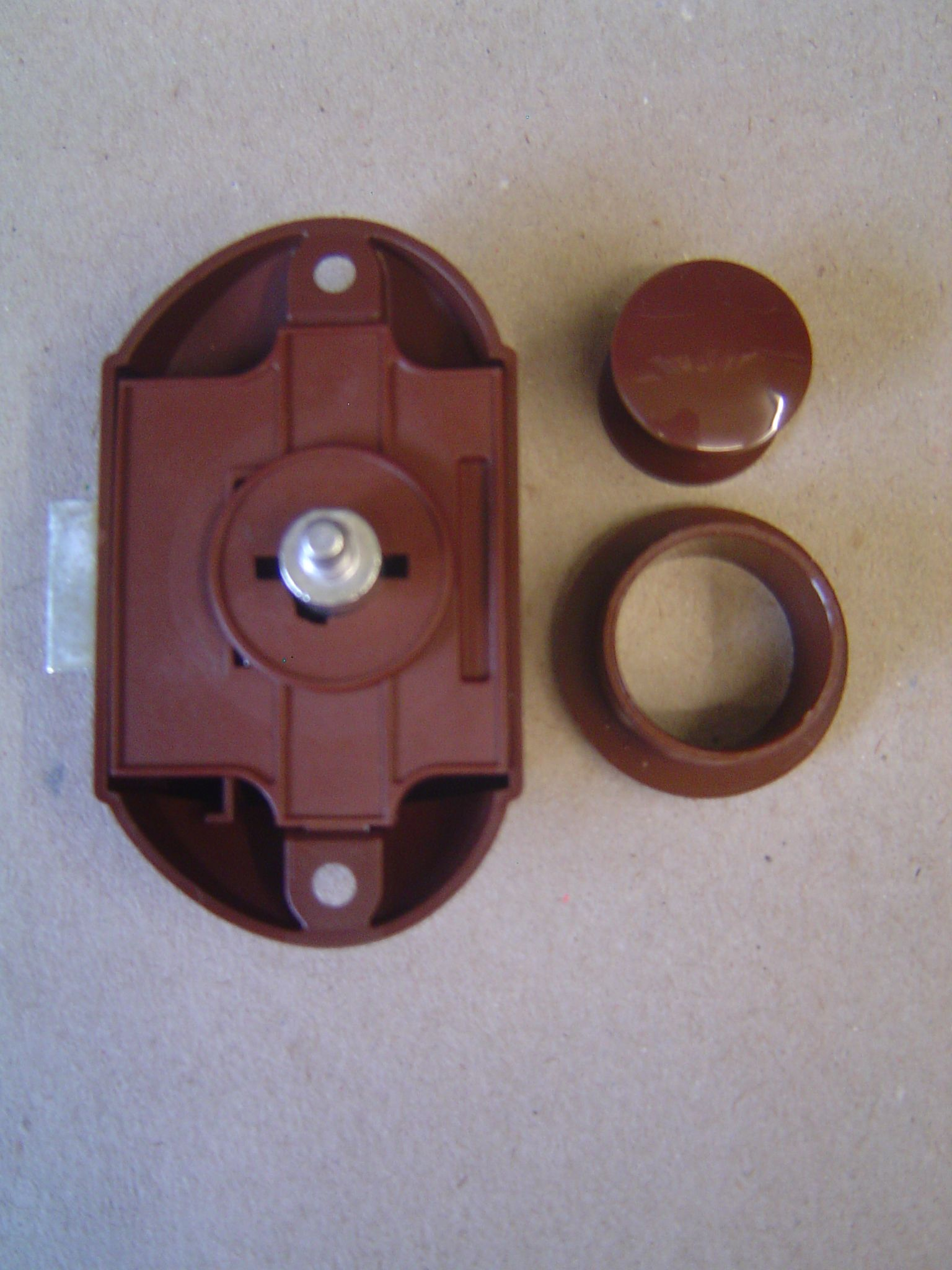 Brown Button Single For Rods Push Lock