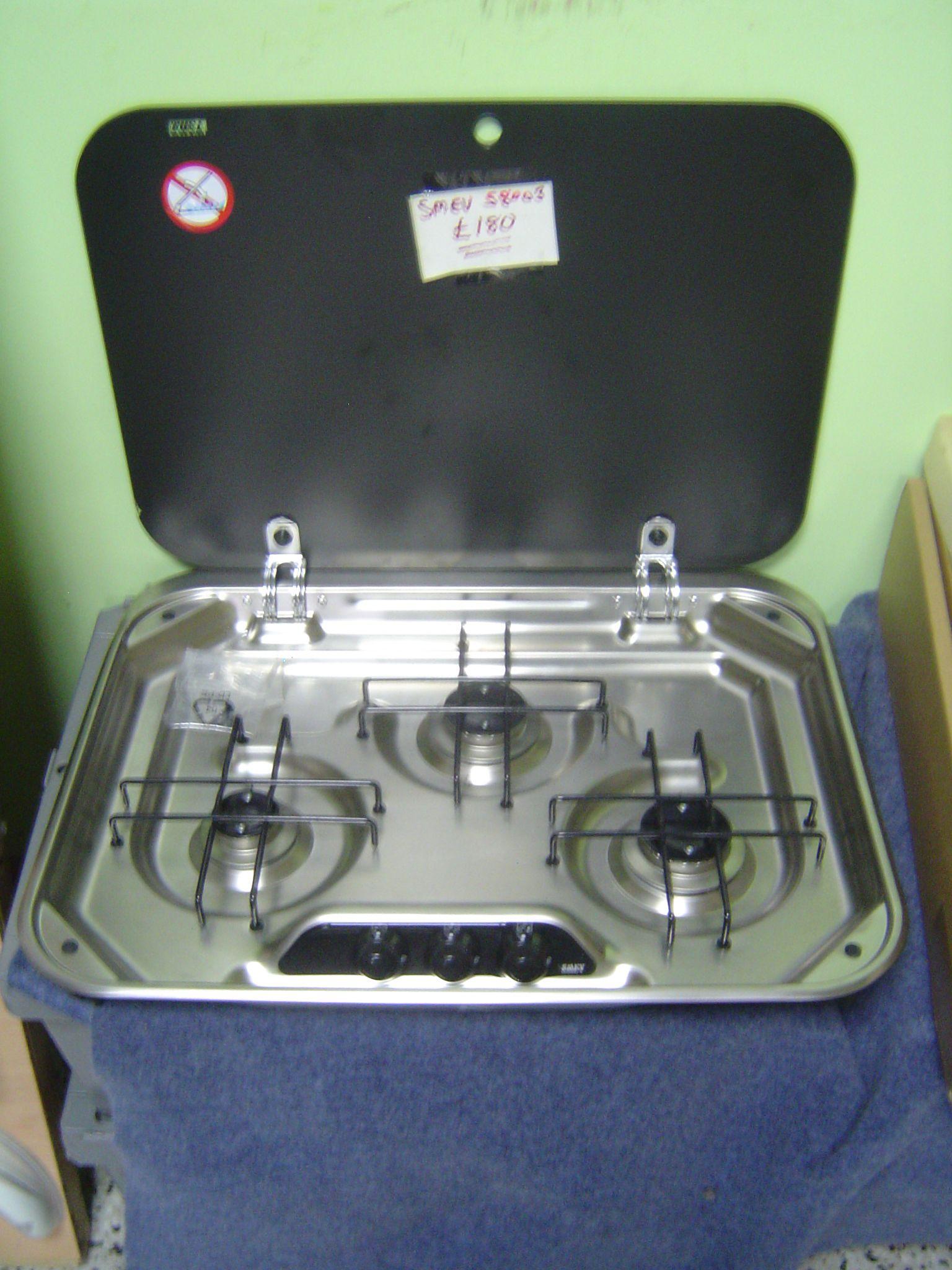 Eb302 8003 Smev 3 Brn Gas Hob Amp Black Glass Cover