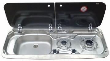 Smev 9222 2 Brn Lh Sink Hob Unit Tap Hole