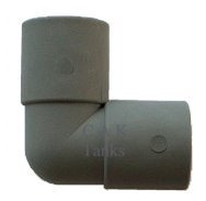 28mm GREY WASTE PUSH FIT EQUAL ELBOW