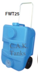 FRESH WATER TAXI 25 LITRE WHEELED WATER TANK - BLUE