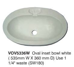 OVAL INSET BOWL  WHITE