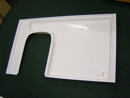 C200 Shower Tray Left Hand White